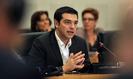 Greek radical leftist leader Alexis Tsipras