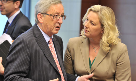 Jean-Claude Juncker and Jutta Urpilainen