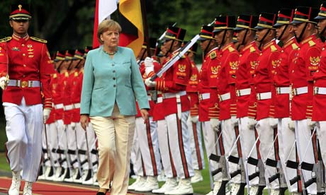 German Chancellor Angela Merkel visits Indonesia