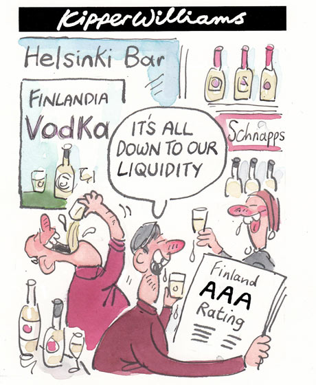 Pass notes: Finland, only country in eurozone with AAA rating