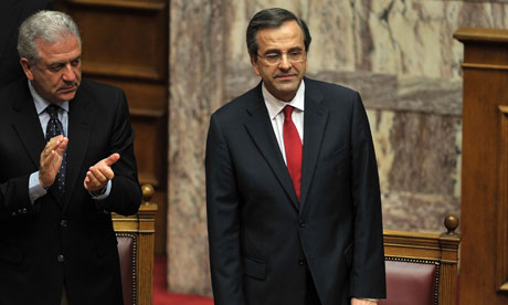Greek Prime Minister Antonis Samaras is