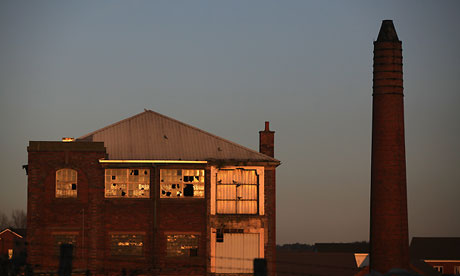 A derelict factory in Stoke-On-Trent