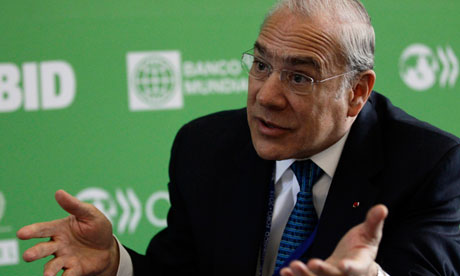 OECD chief Angel Gurria speaks at the Mexico Forum 2013.