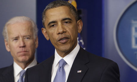 US President Barack Obama and VP Joe Biden