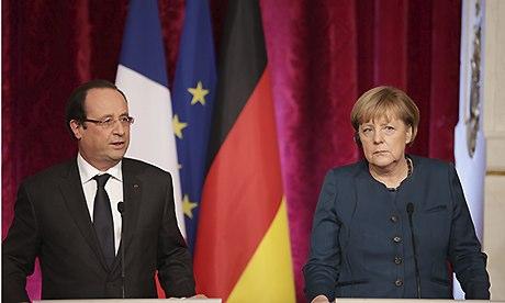 Angela Merkel and François Hollande