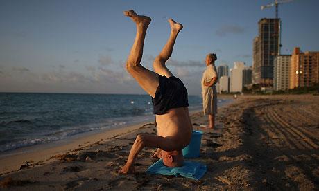 Older people on Miami Beach