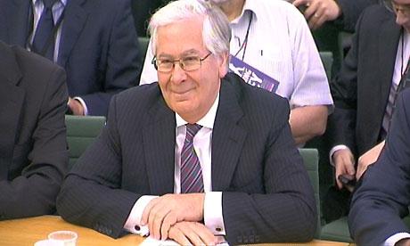Mervyn King at the Treasury select committee