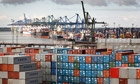 Felixstowe container port in Suffolk