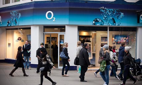 O2 mobile phone shop, central London.