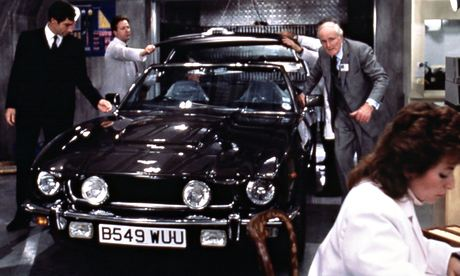 Aston Martin car in James Bond film The Living Daylights (1987)