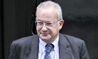 Lord Sainsbury leaves Downing Street in 2009