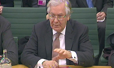 Bank of England Governor Mervyn King gives evidence to the Commons Treasury Committee - March 2011
