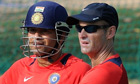 Sachin Tendulkar (L) and Gary Kirsten, India coach
