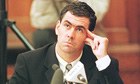 Hansie Cronje during his cross-examination  at the King commission into cricket match-fixing in 2000