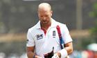England's Matt Prior walks off dejected after being dismissed by Sri Lanka's Rangana Herath