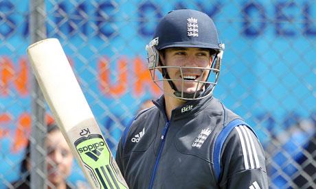 Kevin Pietersen practises in the nets