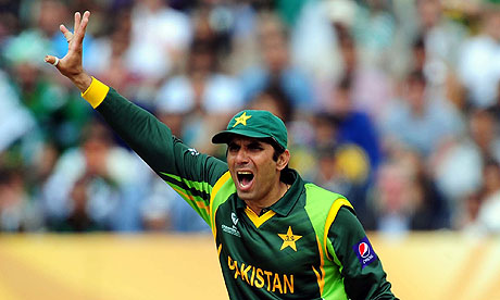 Pakistan captain Misbah-ul-Haq during the Edgbaston Champions Trophy defeat by South Africa