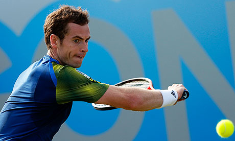 Andy Murray was made to work hard for his victory over Benjamin Becker in the Aegon Championships qu
