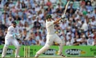 Australia's Shane Watson bats as England's Matt Prior looks on day one of the Ashes Test at The Oval
