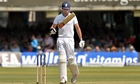 Alastair Cook looks despondant against India