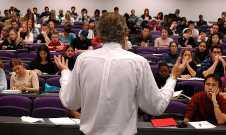 Students in a lecture at the University of Hatfield