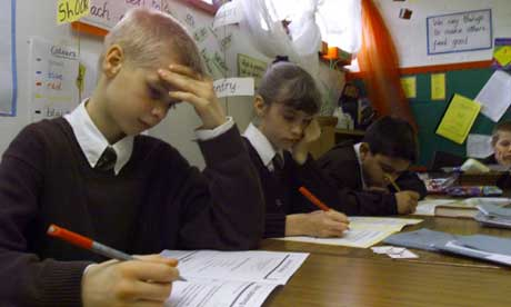 Pupils take Sats tests