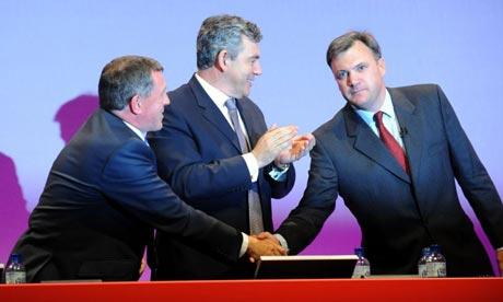 John Denham and Ed Balls at Labour party conference