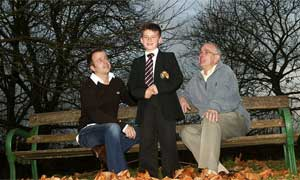 Thomas Williams with his father and grandfather