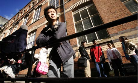 International students at Wigan College