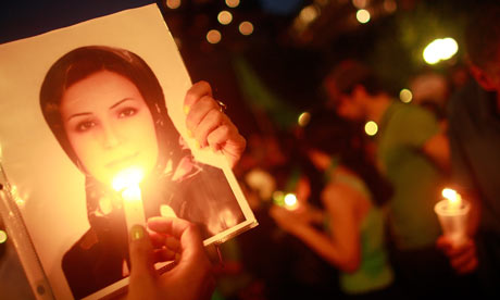 Vigil for dead Iranian student Neda Agha-Soltan