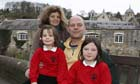 Julie Target and Ben Howison with their children Clara, 7, and Freya, 10