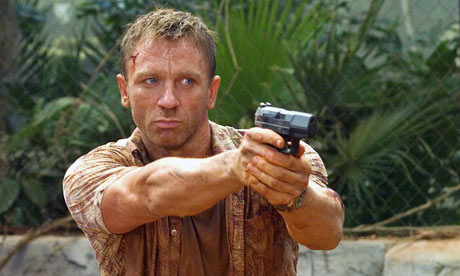 Actor Daniel Craig as James Bond in Casino Royale