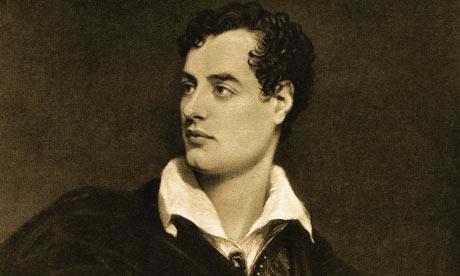 Portrait of English Poet Lord Byron
