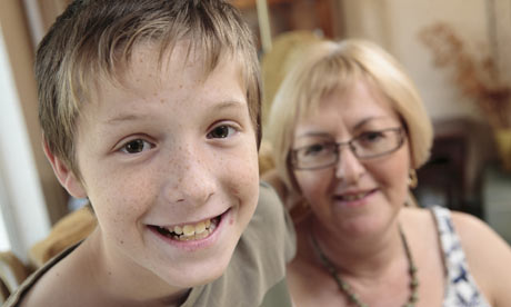Lorna Watson and Harry, who attends an out of school club for children on the autistic spectrum