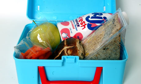 More healthy than most: a school lunchbox containing fruit and wholemeal sandwiches