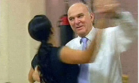 Vince Cable dances with Alesha Dixon