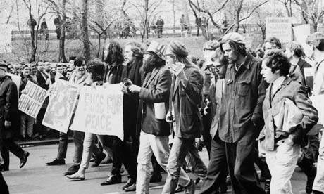 Allen Ginsberg protesting against Vietnam war