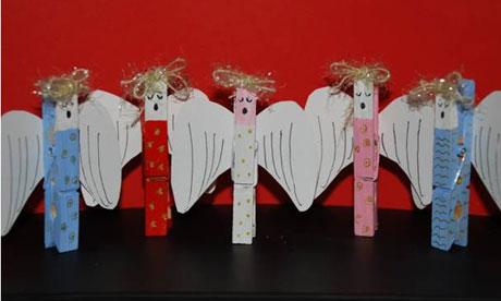 Χριστούγεννα άγγελος ρούχα μανταλάκια