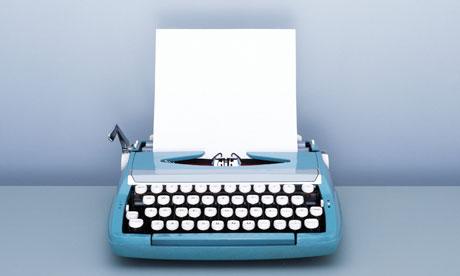 typewriter blank page