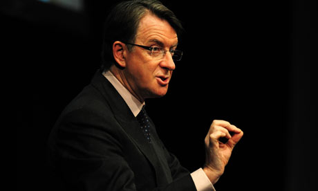 Peter Mandelson visits Nottingham