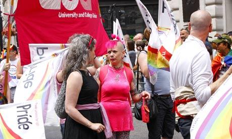 Gay members of UCU at London pride festival