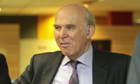 Business secretary Vince Cable visits the Student Loans Company in Glasgow