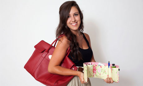 Laura-Louise Ancell designs and sells handbag organisers