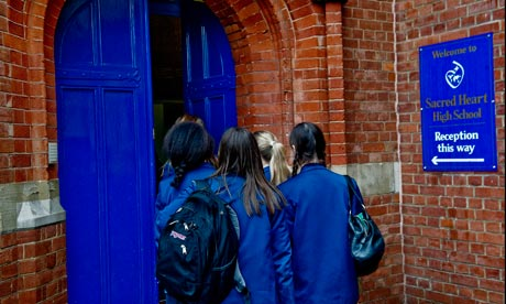 At Sacred Heart high school in London, the head wants parents to apply for free school meals