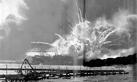 The attack on Pearl Harbor on 7 December, 1941