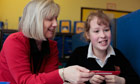 Josie Orr, right, with teaching assistant Janet Woods at Northumberland Church of England Academy