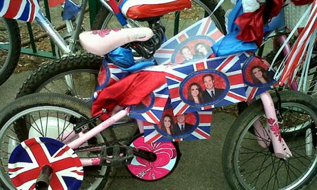 School bikes decorated for royal wedding