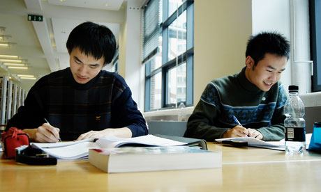 Korean students at London School of Economics, where there is no cap on fees for overseas students