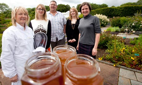 Professor Les Baillie and his team at the National Botanic Garden of Wales.