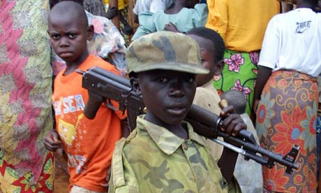 Child soldiers are a victim of conflict